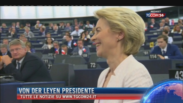 Breaking News delle ore 09.00: 'Von Der Leyen Presidente'