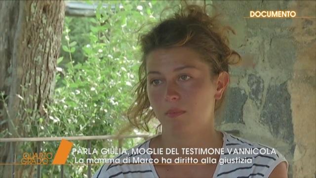 Caso Vannini, parla Giulia, moglie di Vannicola