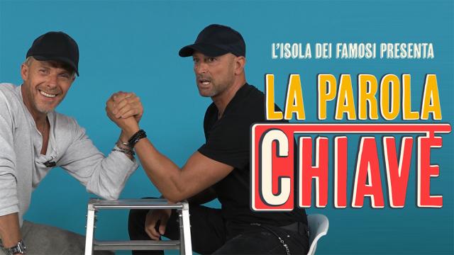 Stefano Bettarini sfida Kaspar Capparoni a braccio di ferro a 'La Parola Chiave'
