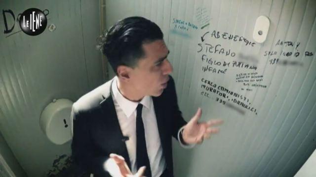 Le Iene Cizco: Il mondo degli annunci nei bagni pubblici - puntata ...