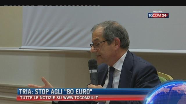 Breaking News delle ore 16.00; Tria: 'Stop agli 80 euro'