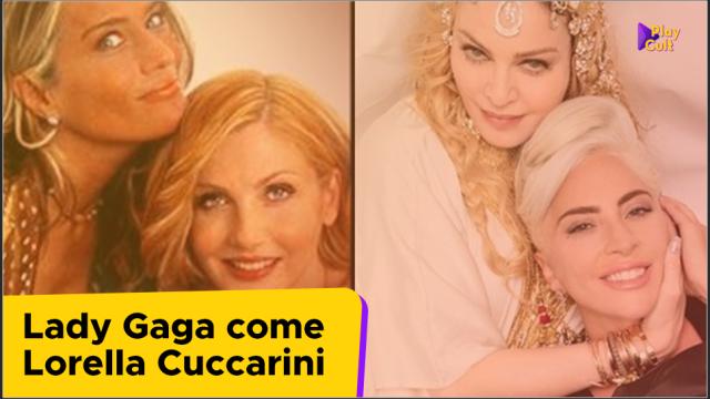 Lady Gaga come Lorella Cuccarini