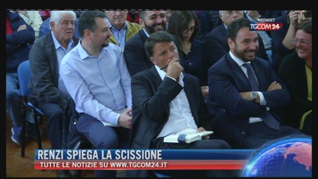 Breaking News delle ore 21.30: 'Renzi spiega la scissione'