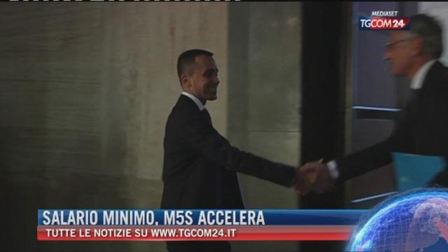 Breaking News delle ore 21.30: Salario minino, M5S accelera