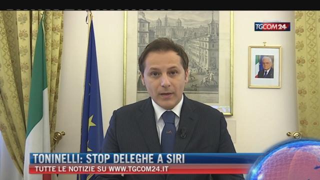 Breaking News delle ore 16.00; Toninelli: 'Stop deleghe a Siri'