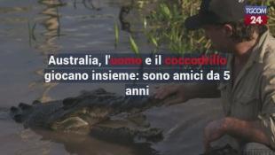 Australia, l'uomo e il coccodrillo giocano insieme: sono amici da 5 anni