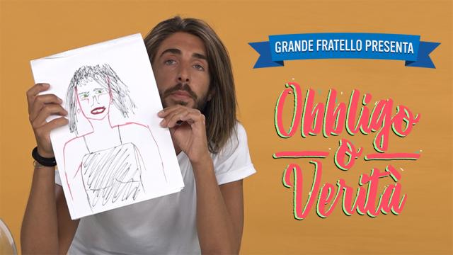 Enrico Contarin disegna la sua donna ideale a 'Obbligo o Verità'