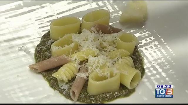 Gusto verde - Insalata di pasta con pesto di olive