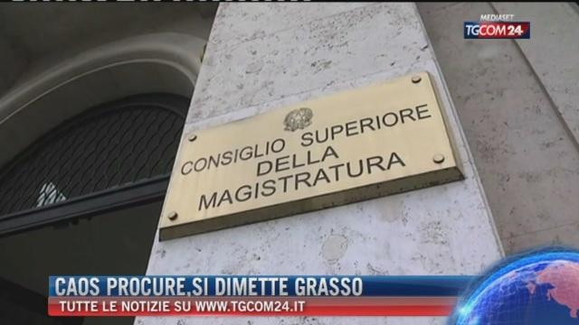 Breaking News delle ore 14.00: Caos procure, si dimette Grasso