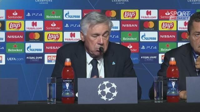 Ancelotti: 'Insigne l'ho visto poco brillante'